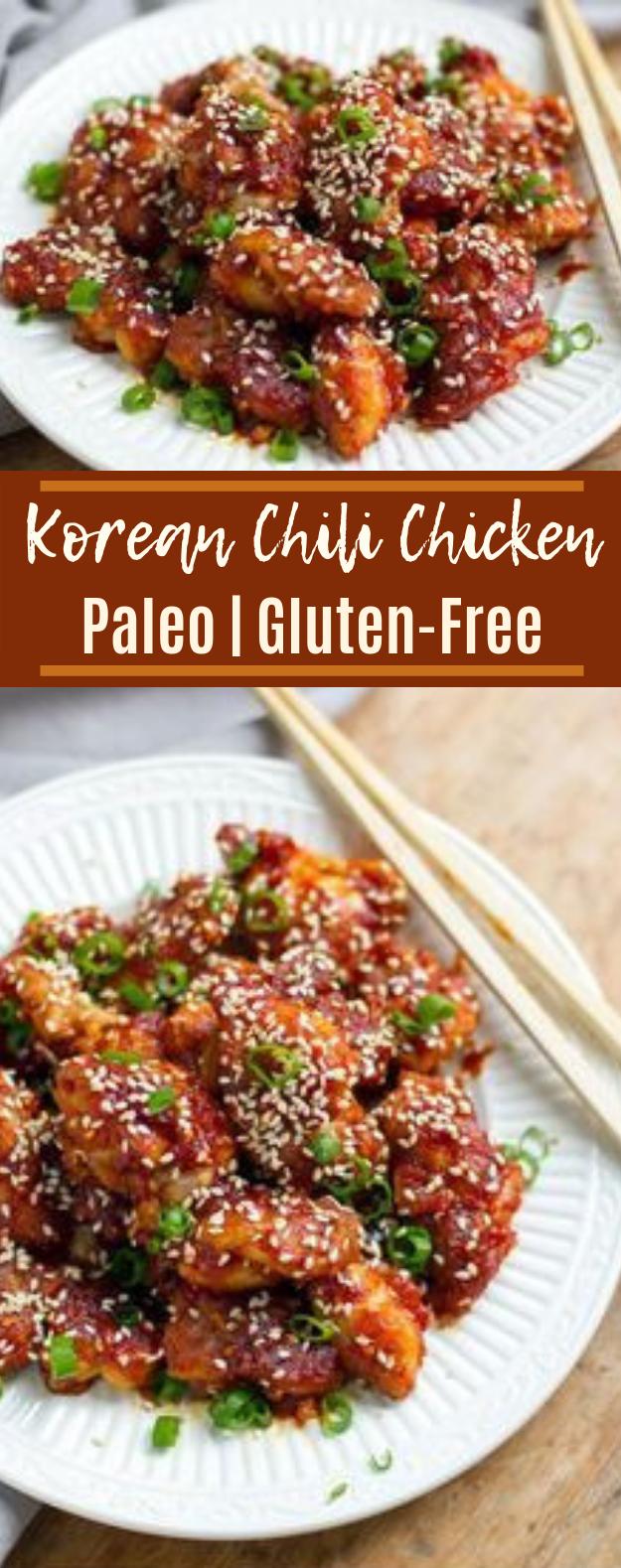 Korean Spicy Chicken (Paleo & Gluten-Free) #healthy #lowcarb