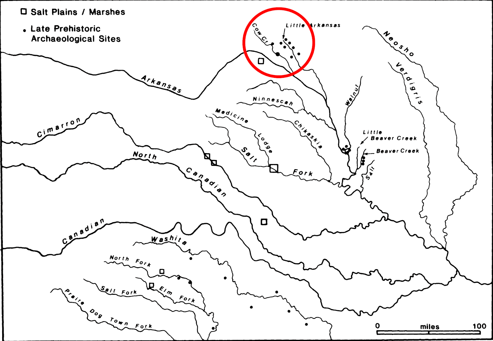 arkansas river archaeological sites probable tancoa location circled