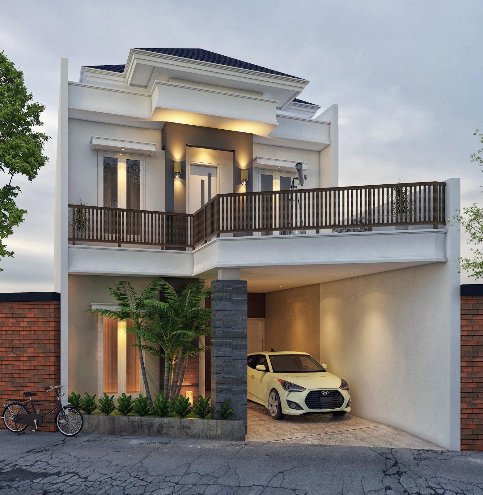 Harga Jasa Desain Interior Cafe: Desain Rumah 2 Lantai , Lebar 7 M , Type 200 Milik Pak