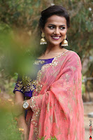 Actress Shraddha Srinath in Purple Chania Choli Cute Pics ~  Exclusive 27.jpg