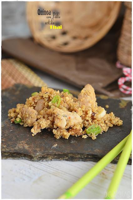 Quinoa con pollo estilo Thai