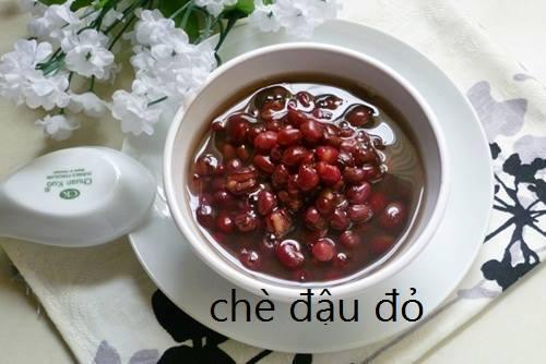 công thức nấu món chè đậu đỏ