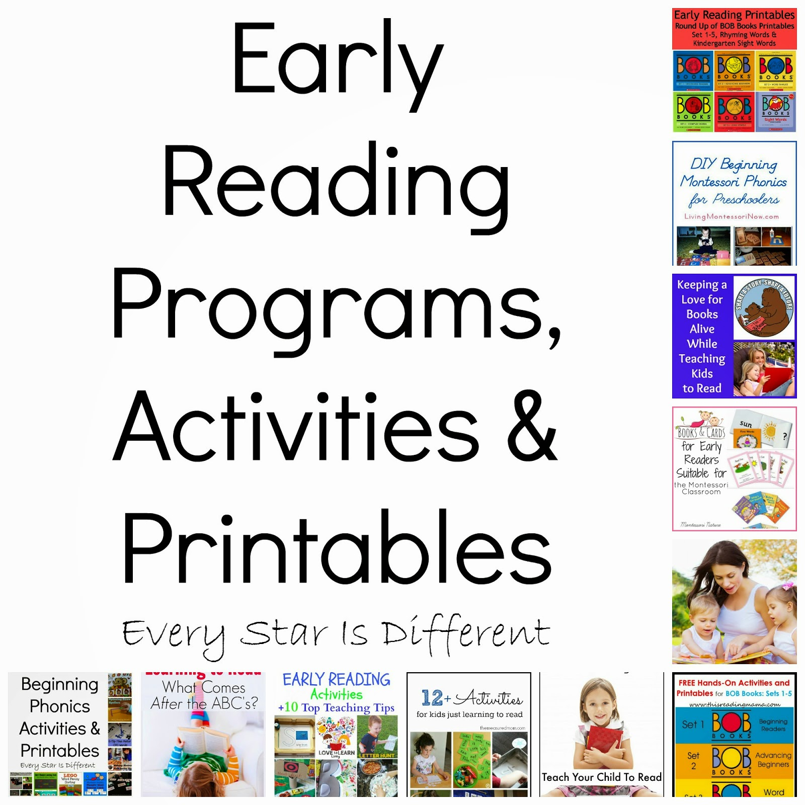 Early Reading Recommendations Activities Amp Printables Klp Linky Party
