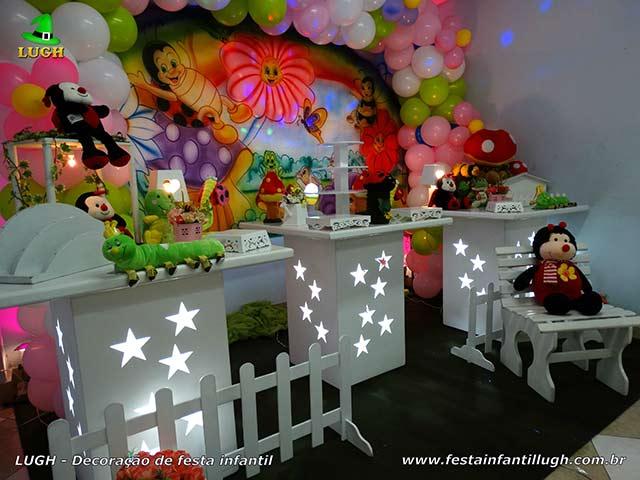 Decoração de festa Jardim Encantado - Mesa temática de aniversário