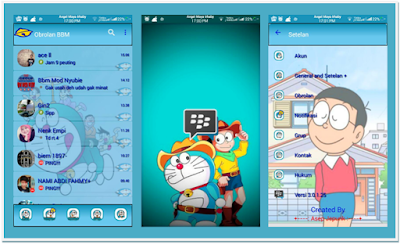 [UPDATE] BBM MOD Doraemon Themes Full Features V.3.0.1.25 APK