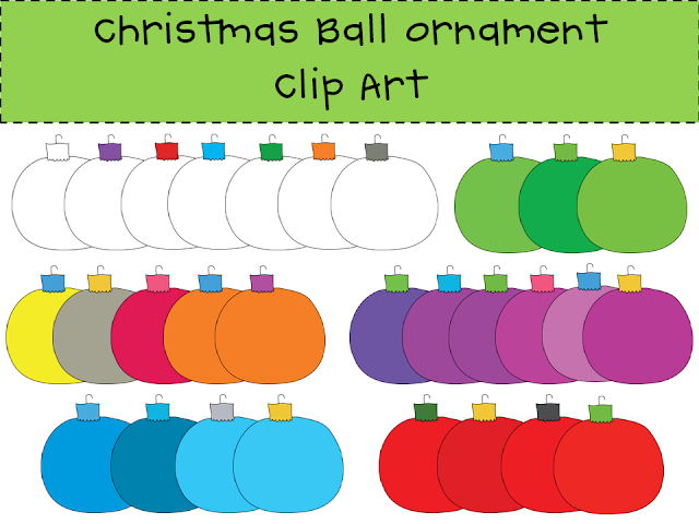 http://www.teacherspayteachers.com/Product/Christmas-Ball-Ornament-Clip-Art-Set-408386