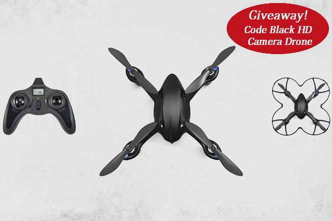 Win a Code Black HD Camera Drone contest giveaway