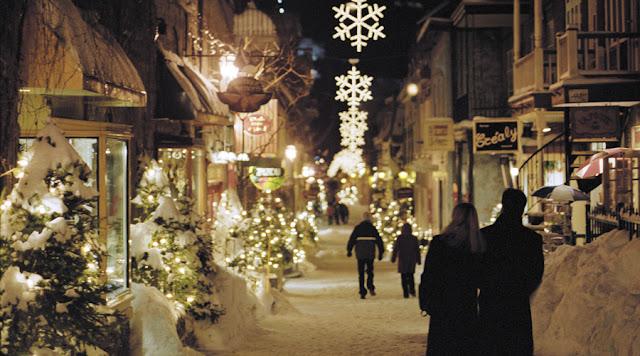 Ruas de Paris no inverno