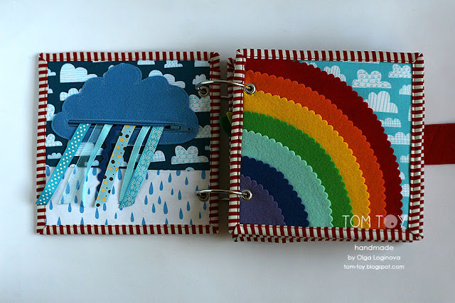 Little quiet book for Maddie Rainy cloud Rainbow