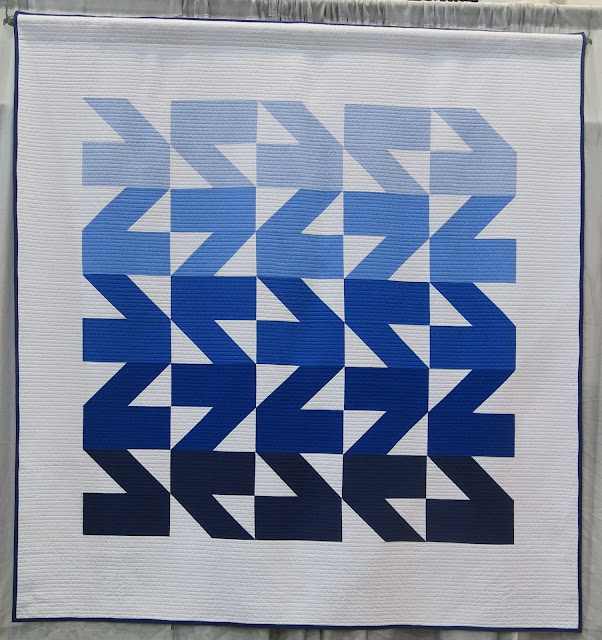 Quiltcon 2017 - Modern Waves Quilt by Kristi Schroeder