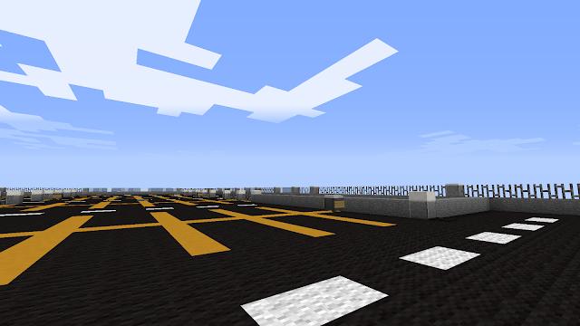 In Minecraft: dak parkeergarage