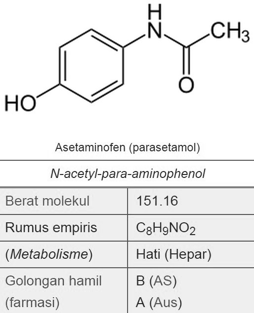Rumus Kimia Parasetamol