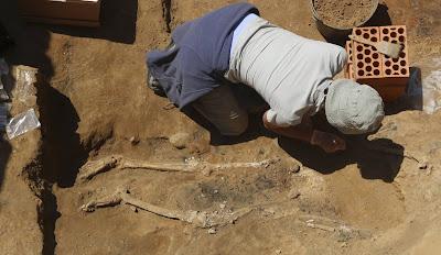 Restos humanos hallados en El Turuñuelo