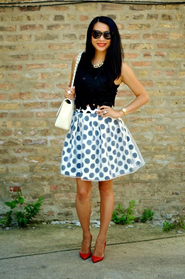 t+j Designs Polka Dot Skirt