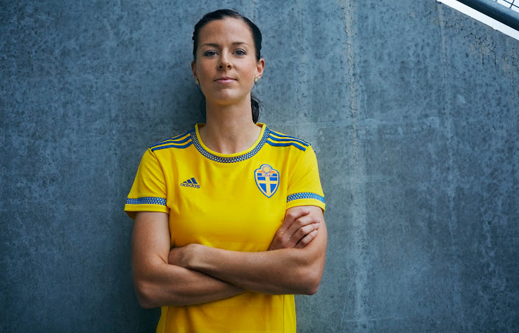 925b3b820 Designed exclusively for the Swedish Women's National football team, the  new Adidas Sweden 2015-16 Home Shirt features the iconic main color yellow  with ...