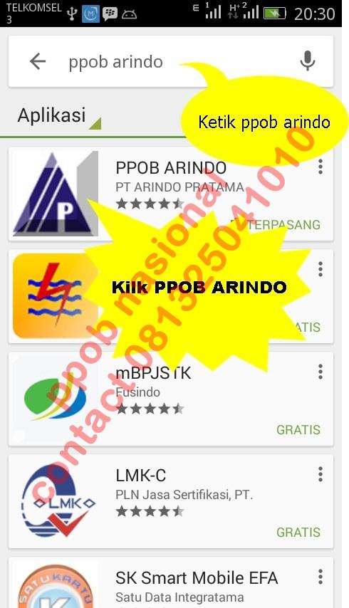 Ppob Arindo Pratama Aplikasi Via Android