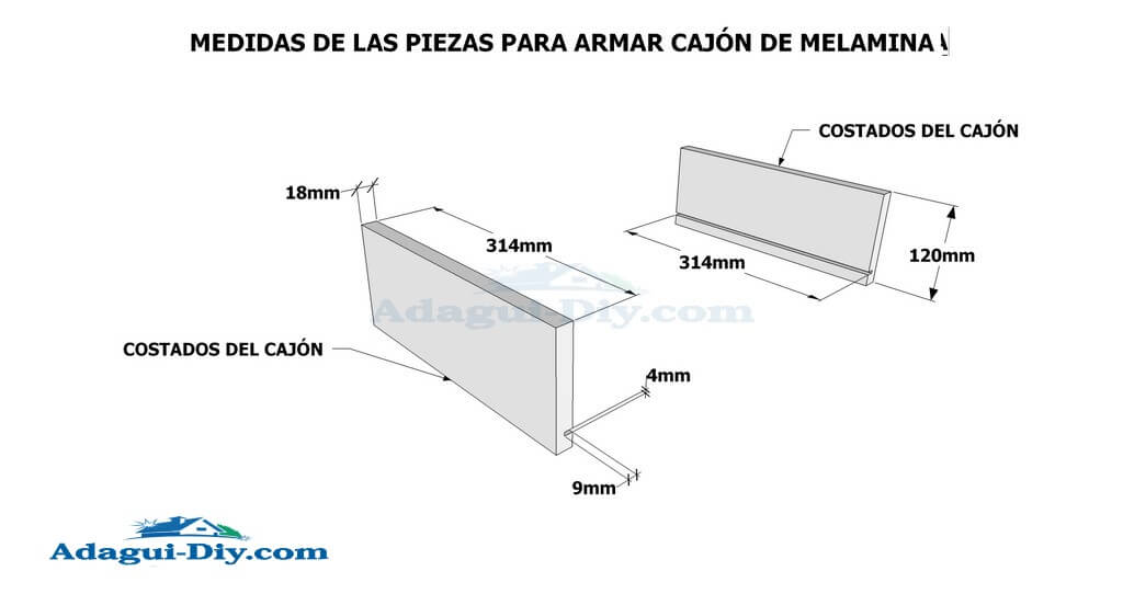 Diagrama e imágenes planos con medidas de mueble auxiliar de cocina ...