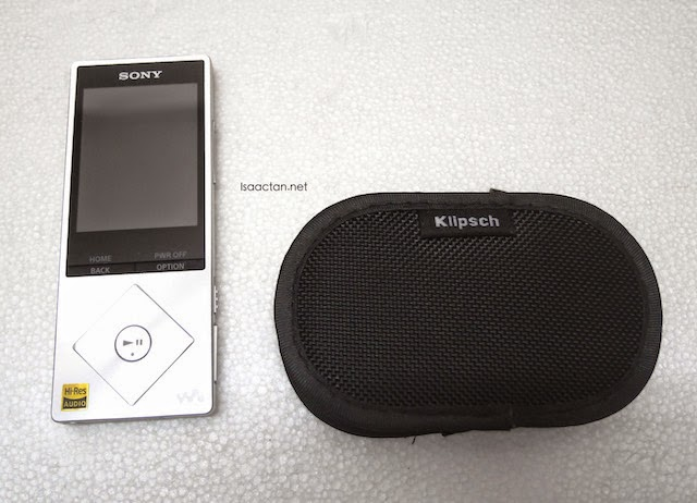 The Sony Walkman NWZ-A15 paired with my Klipsch R6i In-Ear Headphones