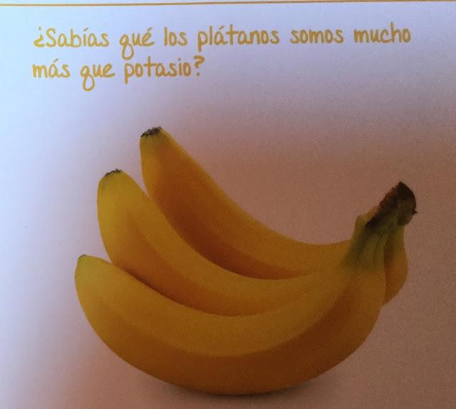¿Sabías que los plátanos son mucho más que potasio?    Son un alimento muy bajo en grasa saturada, colesterol y sodio, lo que lo hace ideal para mantener el peso y para consumo en dietas. Son una buena fuente de energía, fibra dietética, vitamina C, potasio, magnesio y manganeso; y se catalogan como una excelente fuente de Vitamina B6 y, en el caso del plátano macho, una fuente importante de Vitamina A.