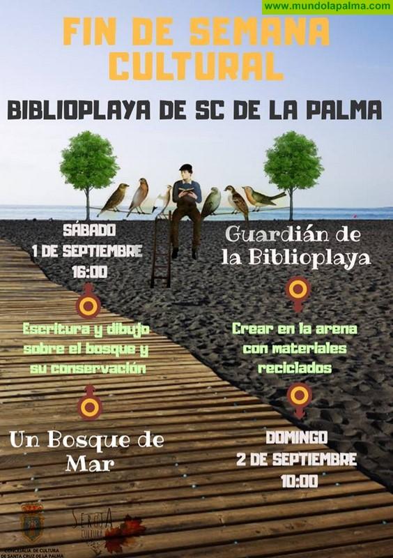 El Ayuntamiento de Santa Cruz de La Palma amplía una semana más las actividades de la Biblioplaya tras su gran aceptación