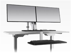ESI ErgoRise Dual Screen Station at OfficeAnything.com