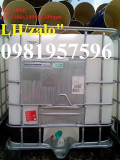 Tank nhựa IBC 1000 L đựng hóa chất công nghiệp, bồn nhựa 1000 lít