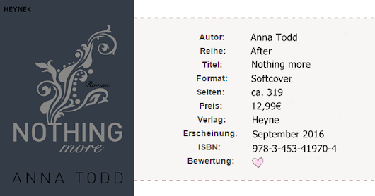 |Rezension| Anna Todd - Nothing more