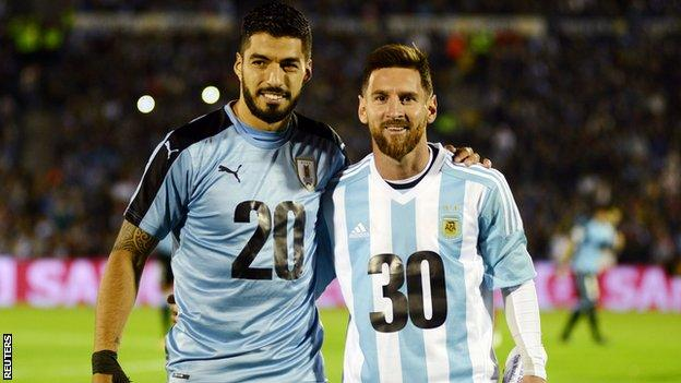 Suarez and Messi's international meeting ended in a stalemate