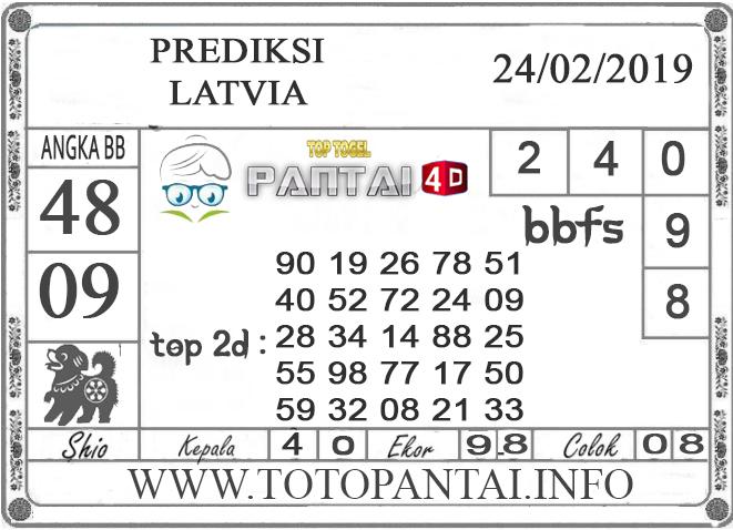 """Prediksi Togel """"LATVIA"""" PANTAI4D 24 FEBRUARI 2019"""