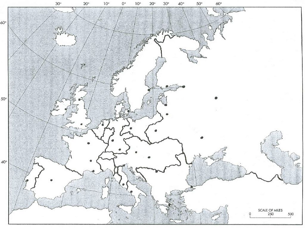 blank map of europe 1815