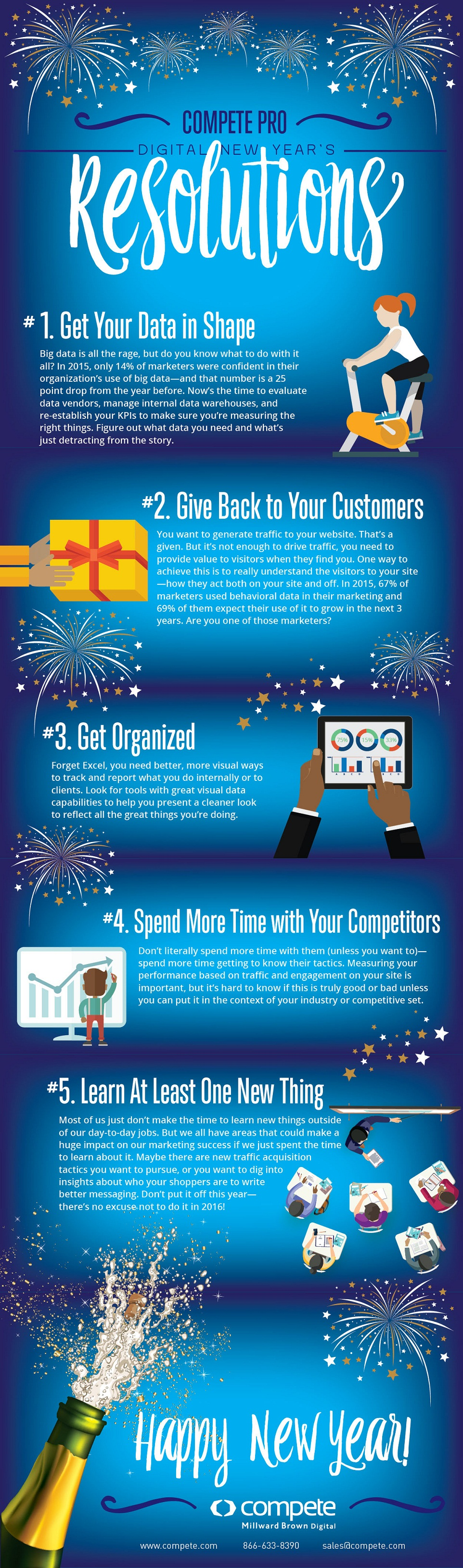 5 Digital Marketing Resolutions You Can't Afford to Break in 2016 - #infographic