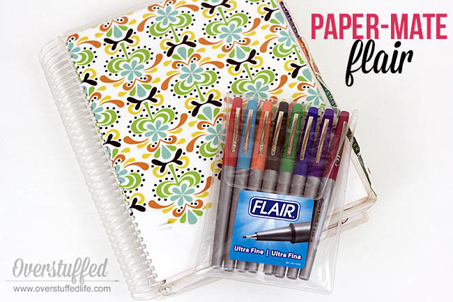 The Paper Mate Flair is an excellent pen to use with your paper planner.