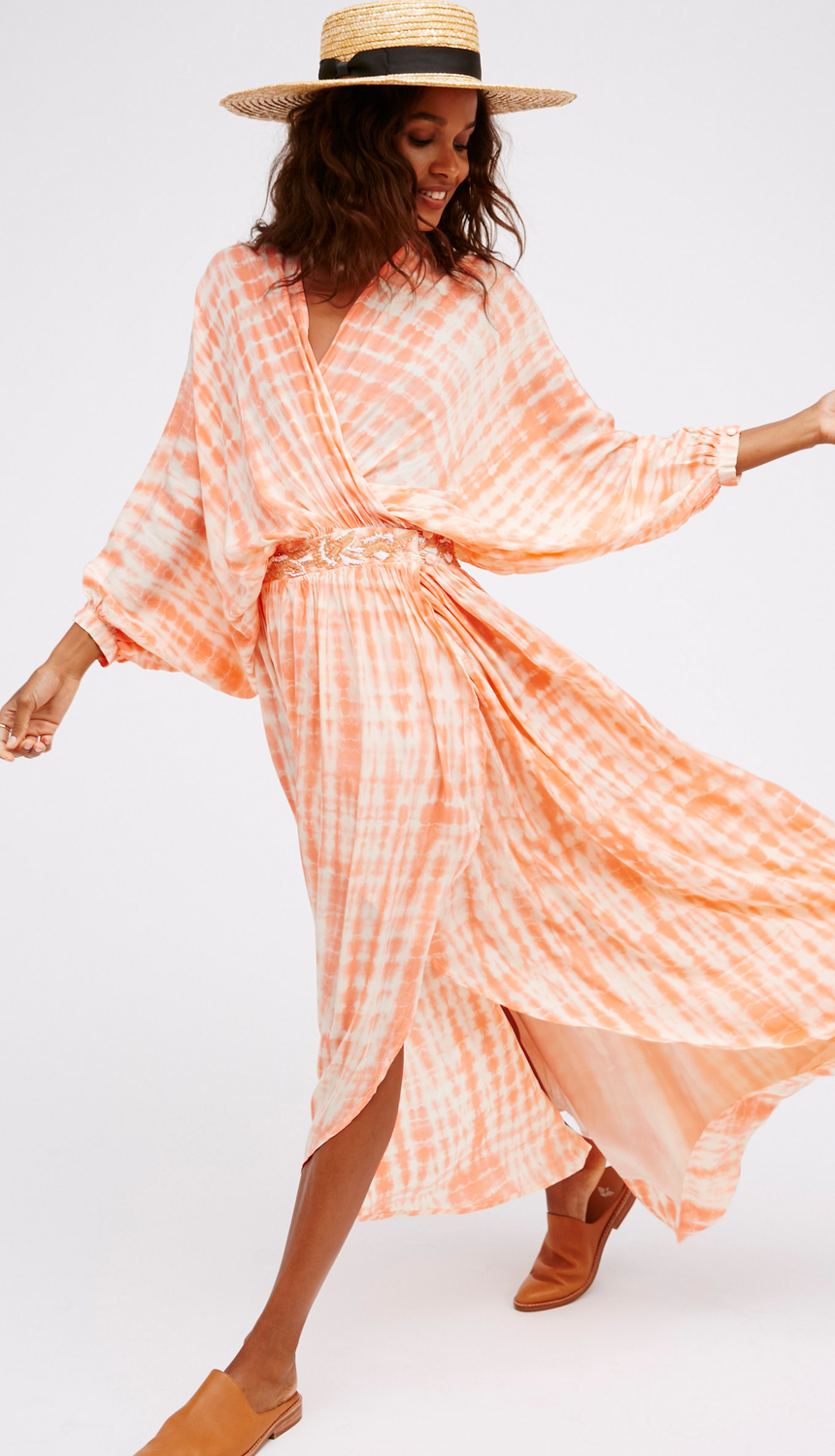 Free People Water Edge Maxi Strawberry Cream
