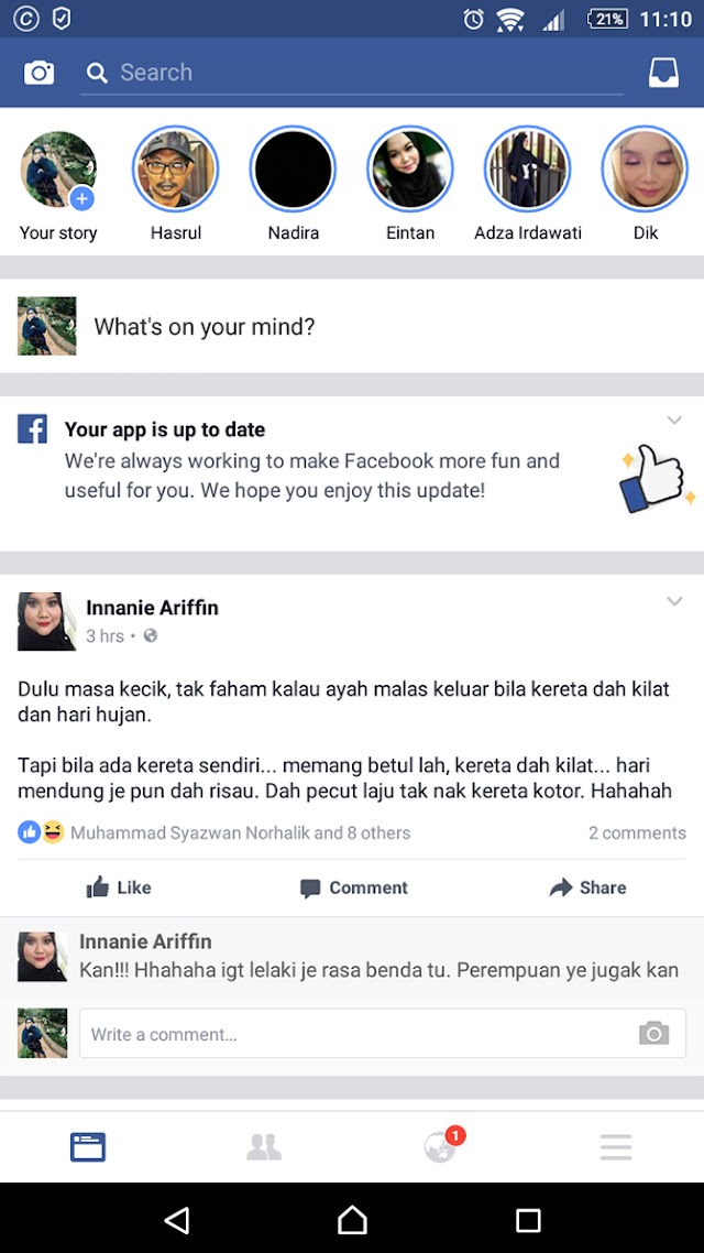 Facebook Dah Ada Storyline