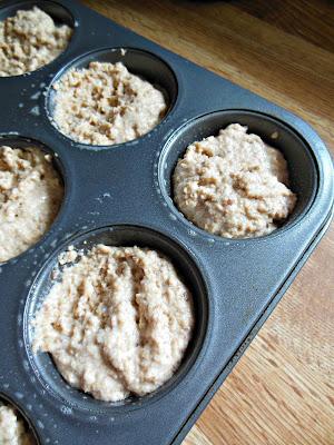 Bread Crumb Muffins, in prepared muffin tins.