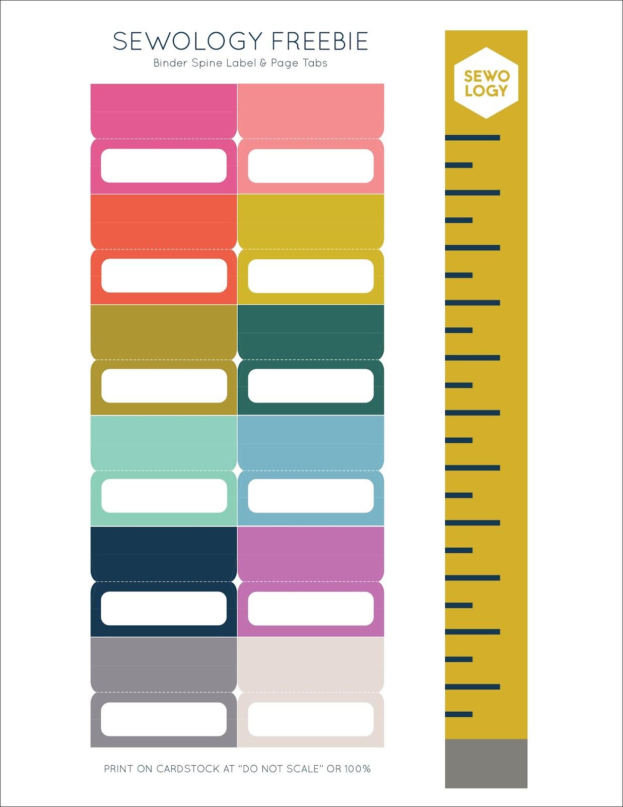 labels for binder spines