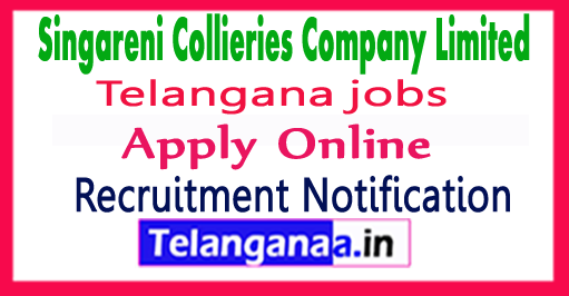 SCCL Singareni Collieries Company Limited Recruitment Notification 2017  Apply