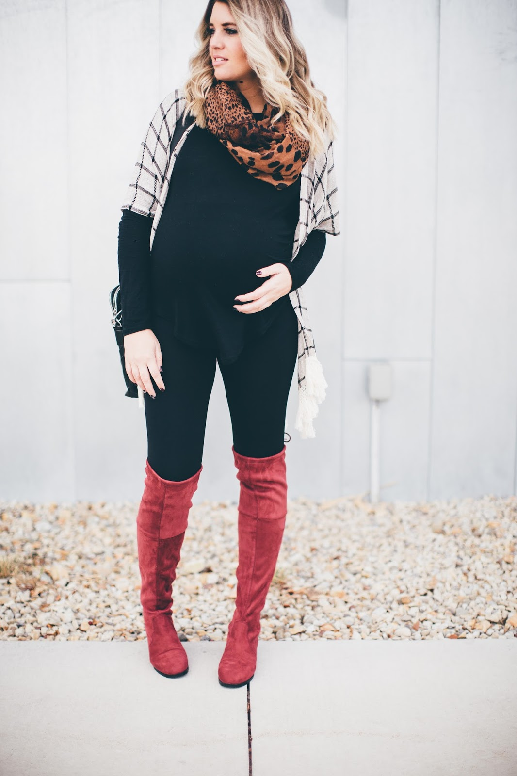 Fringe Cardigan, Knee High Boots, Choies, Pink Blush