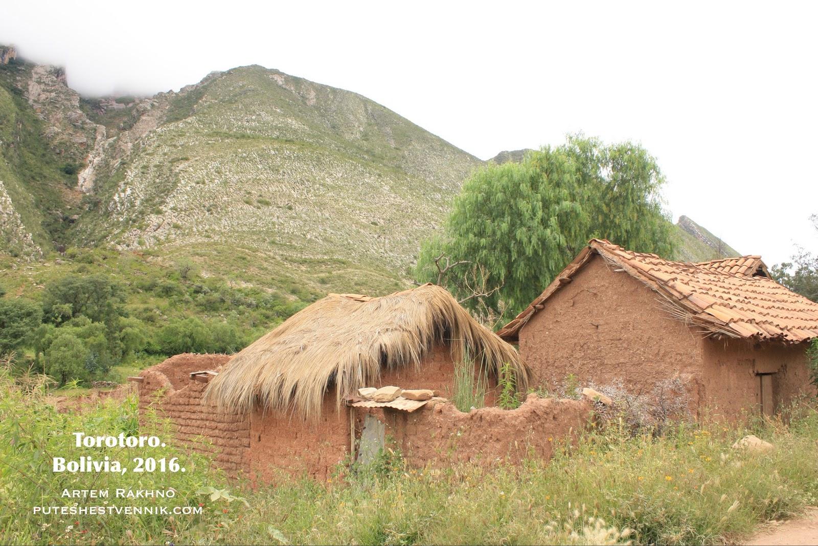 Дом в деревне в Боливии