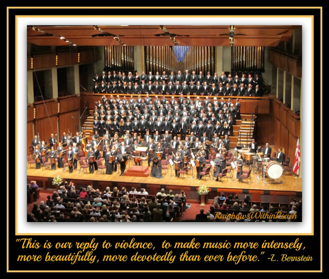 photo of: John F. Kennedy Center Opera + Orchestra with Bernstein Quote