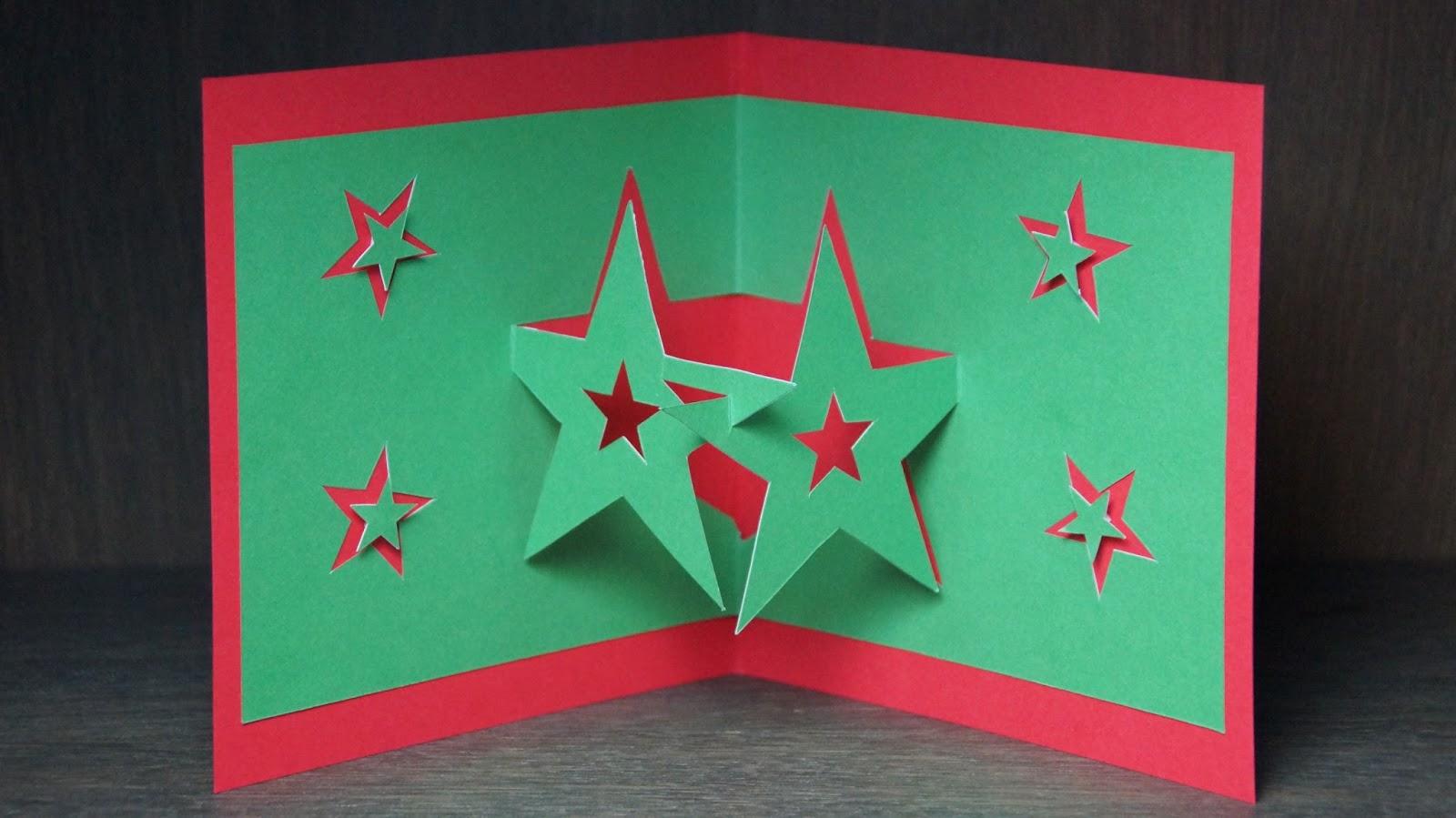 Basteln Und Mehr Pop Up Karten Basteln Zu Weihnachten Sternen