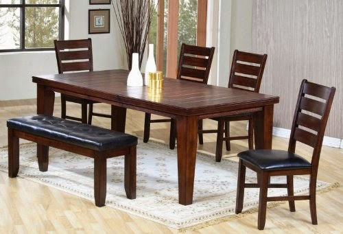 6pc dining table chairs set