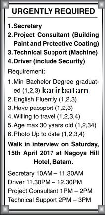 Lowongan Kerja Sekretaris, Driver dan Security