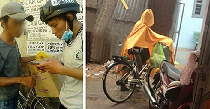 Chàng shipper nghèo, đạp xe hàng chục cây số mỗi ngày kiếm tiền chữa bệnh cho mẹ già ở quê