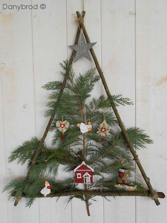Árbol de Navidad DY con ramas y palos