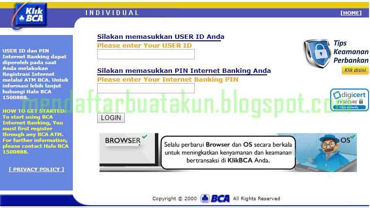 Cara Registrasi Internet Banking BCA  Daftar Lewat ATM Dan Online  Mendaftar Buat Akun