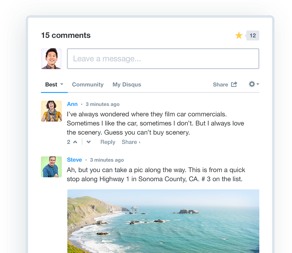 disqus comment box