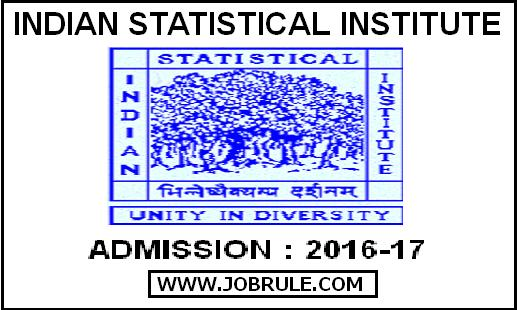 www.isical.ac.in/admission | Indian Statistical Institute (ISI) Admission Notice for Session 2016-2017