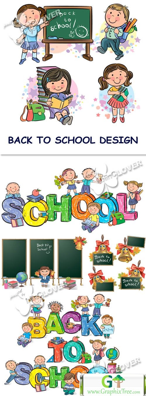 Vector Back to school design 0452