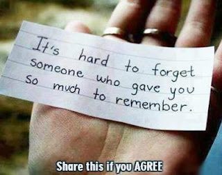 telling why it is so hard to forget someone